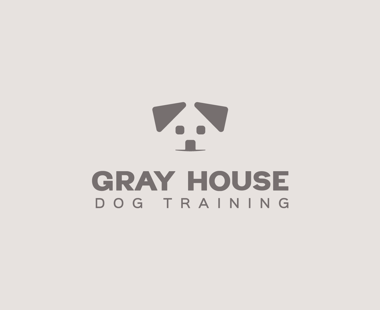 Gray House Dog Training Logo